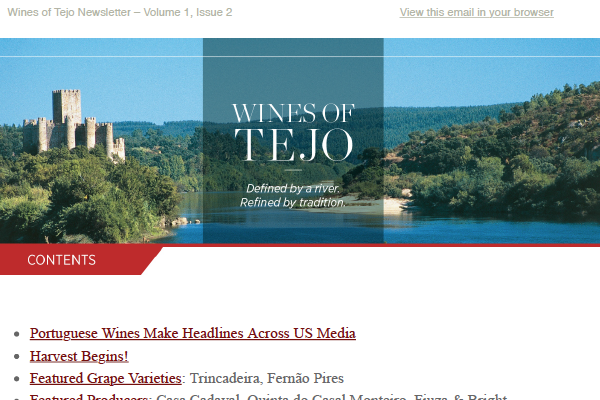 Wines of Tejo: Defined by a River. Refined by Tradition. Issue 1.2